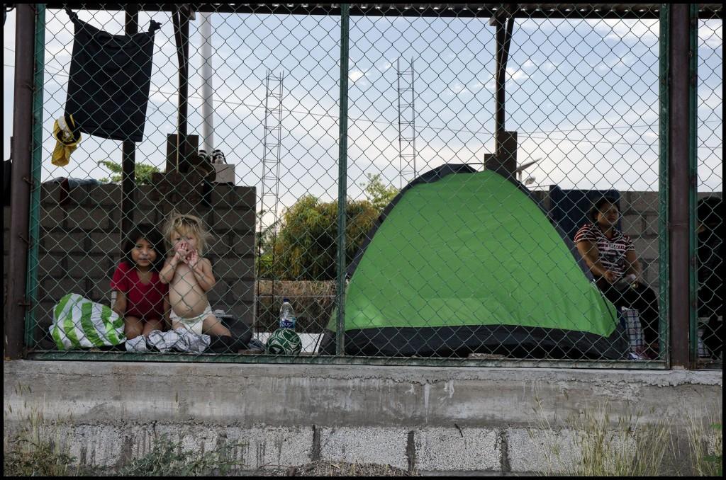 A la espera de una visa humanitaria. Ixtepec Oaxaca.